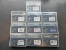 Lot of 10 Mini DV Tapes - Panasonic 83 min tapes, Used, excellent