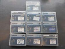 Lot of 10 Mini Dv Tapes - Panasonic 83 min tapes, Used, excellent