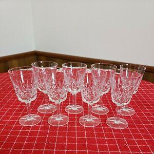 Gorham King Edward Crystal Set Of 8 Wine Glasses