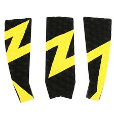 3 piece Surfboard Tailpad/ Tail pad /Deck grip / Traction Pad Yellow & Black