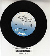 """DEBBIE HARRY French Kissin' In The USA  BLONDIE 7"""" 45 record + juke box strip"""