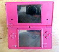 Nintendo DSi Video Game Consold Handheld Bright Dark Hot Pink Charger Stylus