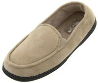 Northern Trail Men's Tan Moccasin Indoor House Slippers