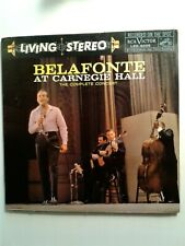 HARRY BELAFONTE at Carnegie Hall 2 LP LSO-6006 Living Stere rare 1959 1st press