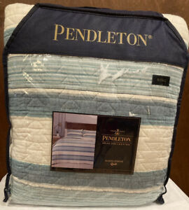 Pendleton Home Collection Quilt, Hayes Stripe, King NEW IN BAG