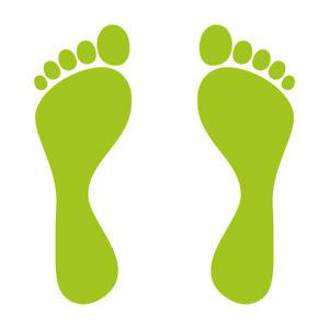1 Pair 2 Feet 15cm Green Footprint Track Sticker Car Furniture Tattoo Decor Film