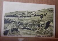 Postcard Israel Valley of tombs Jehoshaphal  unposted
