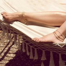 Dancing Tassel Ankle Chain Bracelet Barefoot Sandals Foot Jewelry Beach Wedding