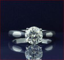 Wedding Engagement Ring 14k White Gold 3Ct White Round Cut Moissanite Diamond