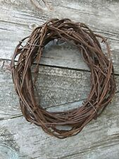 Antique Vintage 34 Feet Rusty Crusty Barbed Wire Barbwire 9