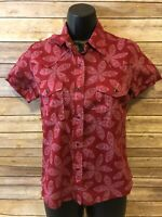 Cruel Girl Pearl Snap Shirt Size Small Womens Short Sleeve Red Paisley Western