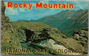 Vintage 1970s ROCKY MOUNTAIN NATIONAL PARK Colorado Postcard Panorama View