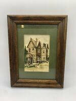 Watercolor Painting By Margaret Lovely San Diego, CA Signed 1976 Wood Frame