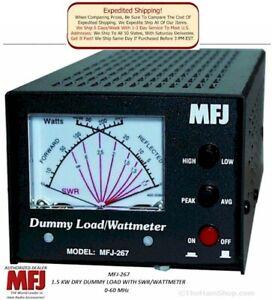 MFJ-267 Dry Dummy load, SWR/Wattmeter, 1500 Watts, 0-60 Mhz.