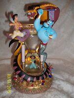 RARE!! Walt Disney World Aladdin Hourglass Snowglobe w/ lights & music MUST SEE
