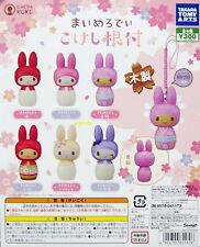 Sanrio My Melody Wooden Mini Figure Mascots, 6pcs - Takara Tomy ARTS