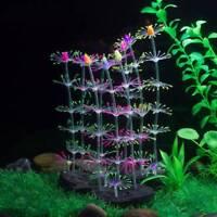 Aquarium Silicone Luminous Artificial Plants Coral Ornament Fish Tank Decor NEW