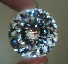 White/Clear Round 25mm Sunflower Cut Cubic Zirconia