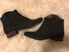 Sam Edelman Black Leather Ankle Boots Size 8