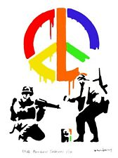 BANKSY - LIMITED EDITION #1 of 50 * CND RAINBOW SOLDIERS *