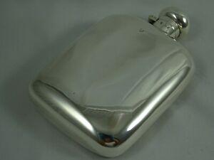 FINE, sterling silver HIP FLASK, 1938, 150gm