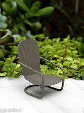 Miniature Dollhouse FAIRY GARDEN Furniture ~ Micro Mini Rustic Glider Chair