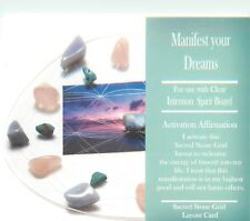 "MANIFEST YOUR DREAMS Grid Card 4x6"" Heavy Cardstock For Use with Healing Crystal"