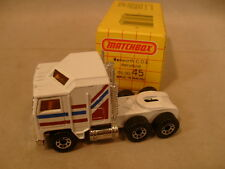 1981 MATCHBOX SUPERFAST #45 WHITE KENWORTH COE AERODYNE MIB