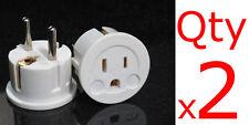 US EU Plug Adapter 2PK- European Schuko Plug USA to Europe Asia American to EU