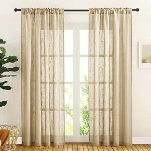 New 2 Piece Window Curtain Set - 5 feet