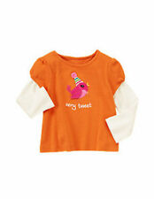 NWT Gymboree girl 12-18 mos orange very tweet bird top shirt SWEET MUSIC (b19,d1