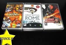 LOTTO STOCK 3 GIOCHI D'AZIONE DYNASTY ROME UN PSP USATI OTTIMO STATO ITA STOCK34