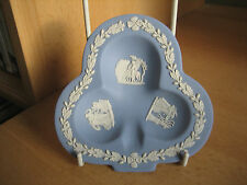 WEDGWOOD BLUE JASPER 'CLUB' SHAPE TRINKET DISH