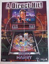"1995 Williams ""Dirty Harry"" Pinball Machine Flyer/Brochure Original"
