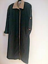 Ilie Wacs vintage long black wool coat. Beige Collar and lining. Women's Size 10