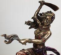 ORISHA OYA Goddess of Wind W Sword Yoruba African Statue Sculpture Bronze Color