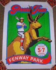 PEARL JAM concert gig poster print BOSTON FENWAY PARK 2016 Ames Bros bucky