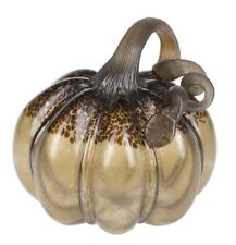 Ganz H8 Fall Thanksgiving Tabletop Decor Hand Blown Light Up Glass Gourd 6.5in