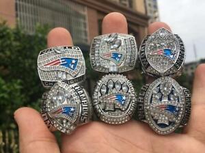 6pcs New England Patriots American Football Team Ring Souvenir Fan Men Gift