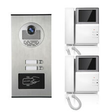 Apartment Wired Video Door Phone RFID Card Audio Visual Intercom System 2 Units
