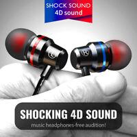 3.5mm Stereo HIFI Wired Earphone Super Bass Headset In-Ear Earbuds Headphone Mic