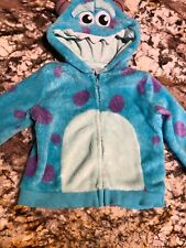 Disney Monsters Inc Sully Costume Jacket Hoodie Boy Girl Toddler Size 6-9 Mo