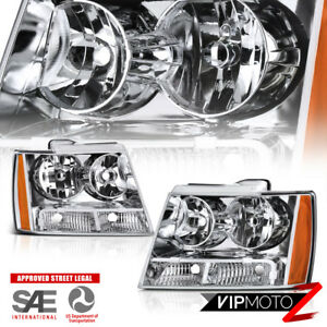 "2007-2014 Chevrolet Tahoe Avalanche Suburban ""FACTORY STYLE"" Front Head Lights"