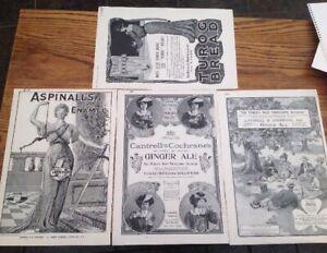 1904/5 Paper Ephemera Magazine B/W Advertisements GINGER ALE/ ENAMEL/TUROG BREAD