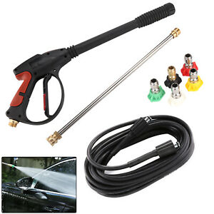 High Pressure Washer Spray Gun 276 Bar Jet Lance Trigger Wash Water 9m Hose Kit