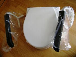 🚩Aquatec Invacare Toilettensitzerhöhung H430A/2 mit verstellbaren Armlehnen Neu