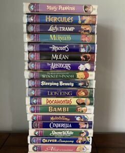 LOT of 17 VHS Walt Disney Classic Masterpiece Collection Family Movies