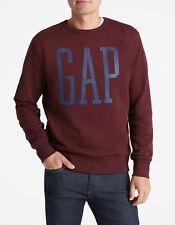 Gap Men's Logo Pullover Sweatshirt, Dark Red