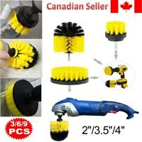 3pcs Electric Drill Power Scrubber Cleaning Drill Brush Cleaner Combo Tool Kit