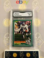 1989 Score Bo Jackson #314 Speedburner - 10 GEM MINT GMA Graded Football Card